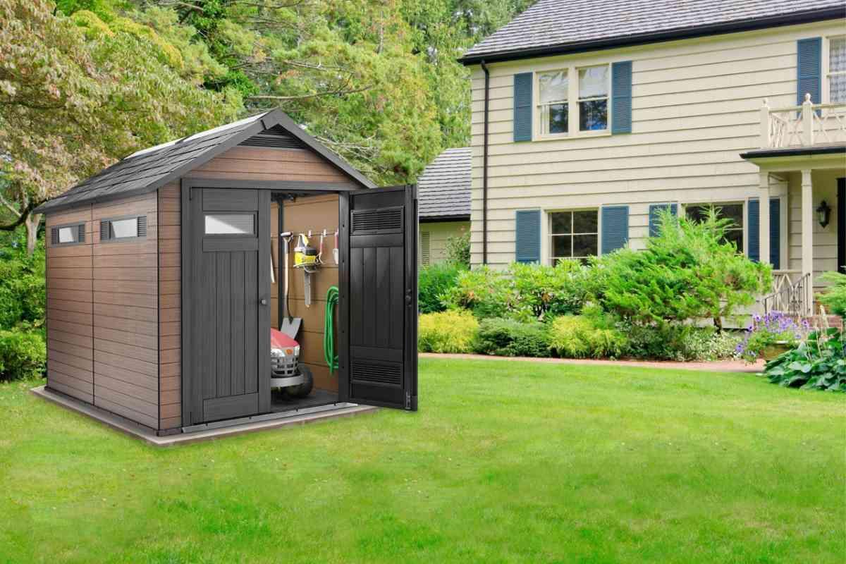 Vendita online casetta da giardino fusion marrone kreo brico